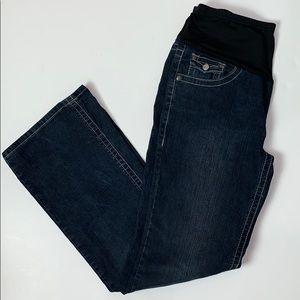 HYDRAULIC Flare Maternity Jeans Embellished, Sz M